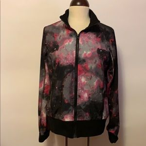 90 Degree by Reflex Galaxy Print Windbreaker